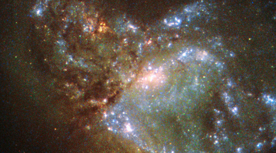 Hubble Telescope snaps a pic of two galaxies becoming one