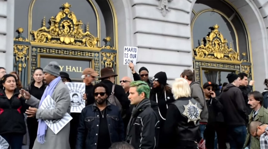 San Francisco mayor sworn in amid protests over fatal police shooting of black resident (VIDEO)