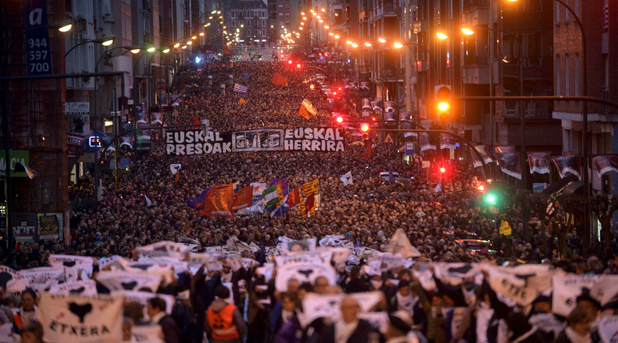 Thousands rally in Spain for rights of Basque separatist prisoners