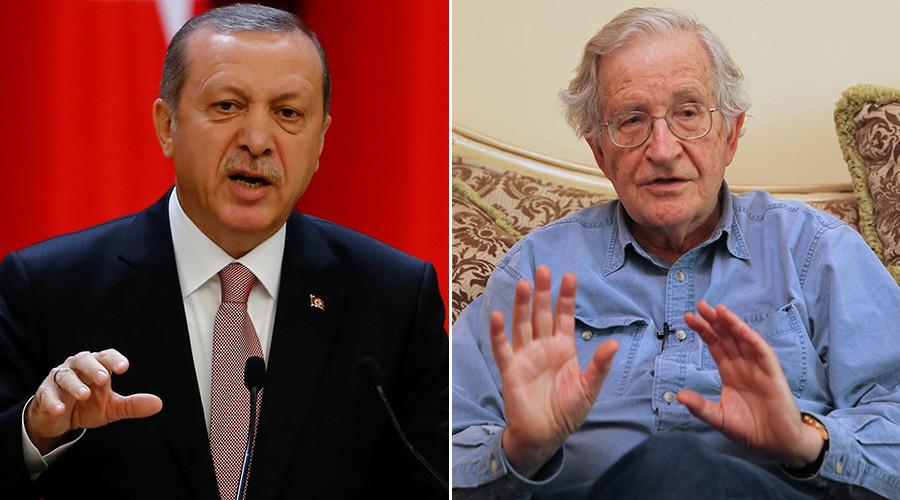 Chomsky hits back at Erdogan, accuses him of aiding terrorists