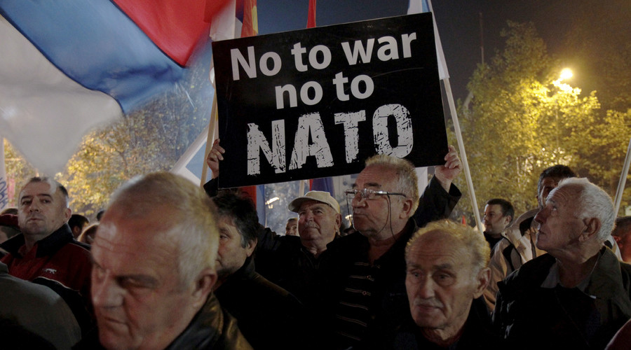 Out of NATO? Thousands call for membership referendum in Montenegro, opposition says