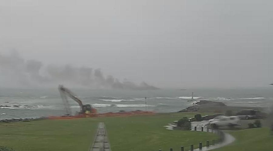 Fire engulfs passenger ship 1km off NZ coast, dozens 'jump into water'
