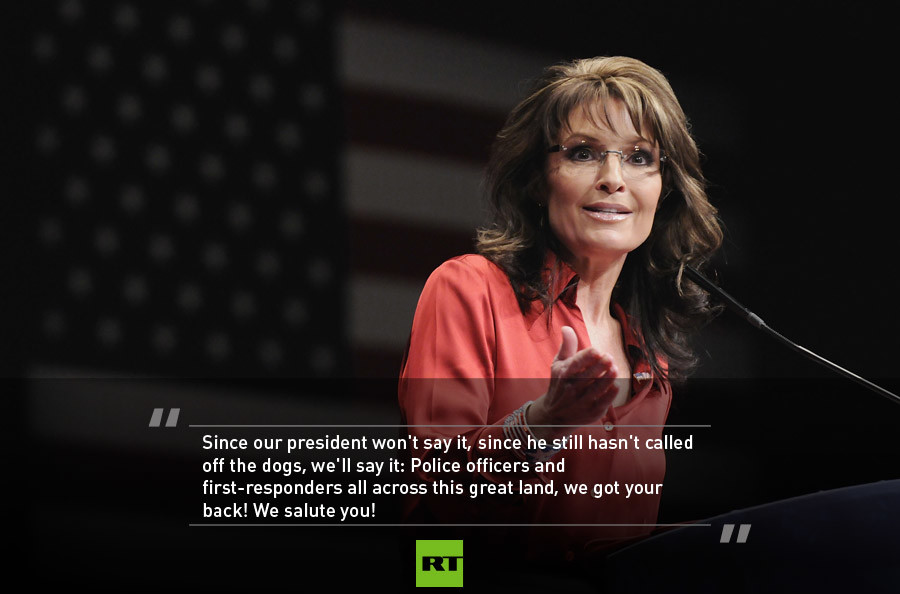 Police Brutality Quotes | Sarah Palin Endorses Trump For President 5 Dramatic Quotes From