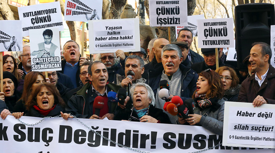 Jailed Turkish journalists say arrests were aimed at sending 'clear message' to the press