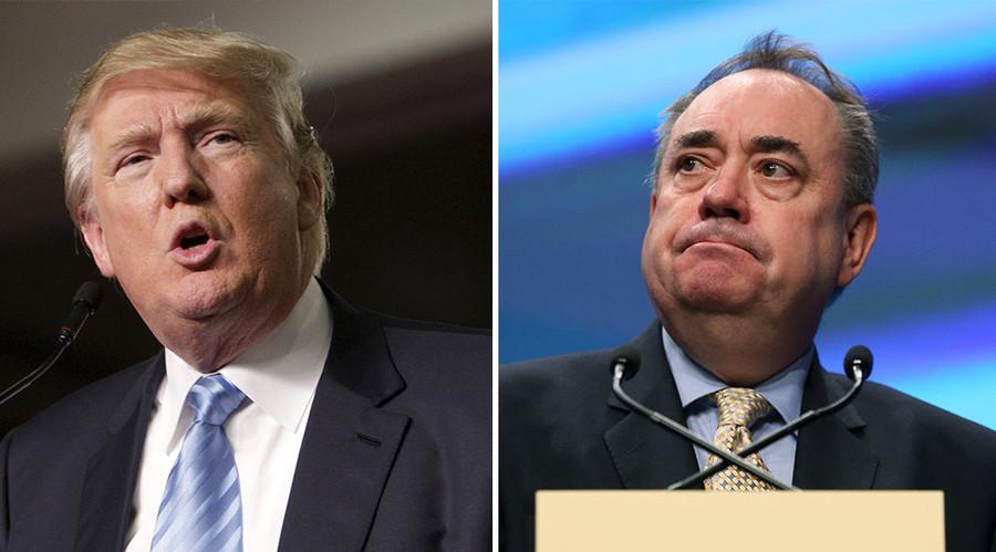 'Donald Trump is too chicken to debate,' says Alex Salmond