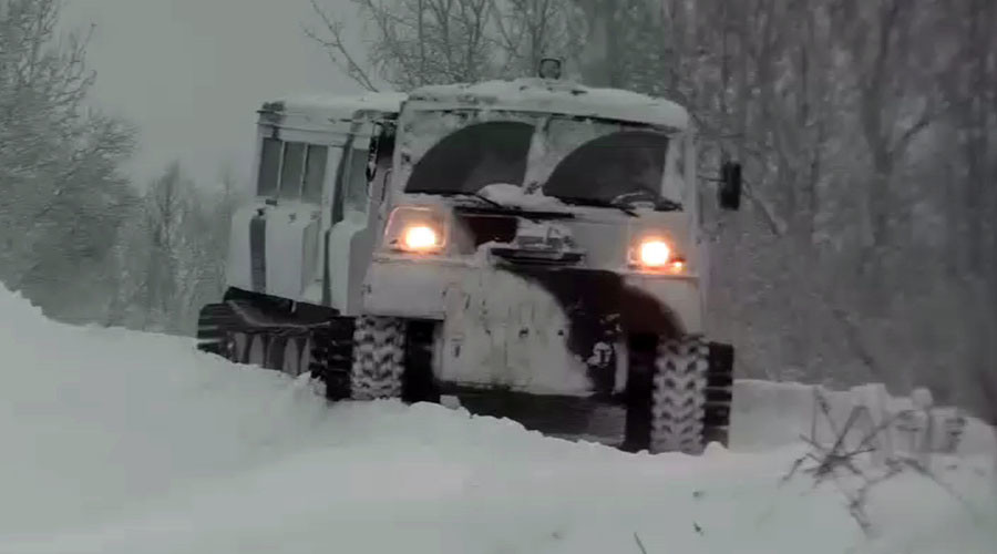 -50°C no problem: Arctic brigade test-drives 2-unit all-terrain vehicles (VIDEO)