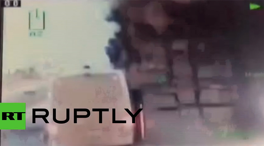 Dashcam captures road blast that left 9 police, 1 civilian injured in Turkey (VIDEO)