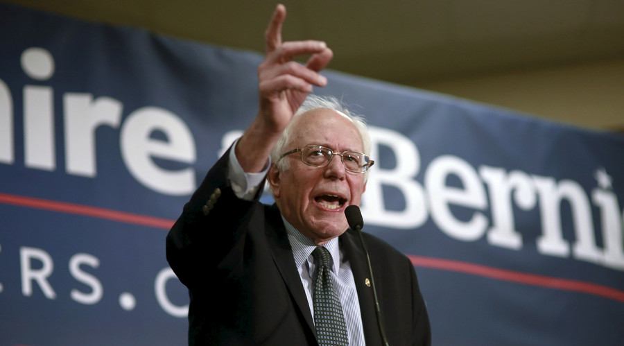 Bernie Sanders laughs off claim his campaign is responsible for stock market decline