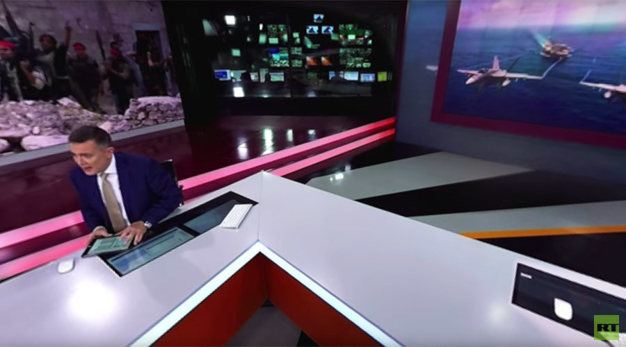 RT your way: Take a 360-degree look at how TV news is made (EXCLUSIVE VIDEO)