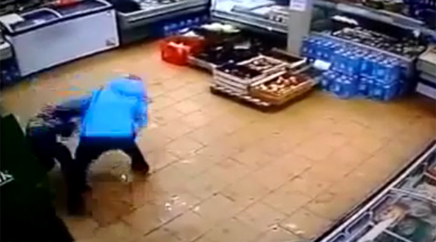 Monster mommy: Woman brutally beats 6yo in bank card rage, flings several feet away (GRAPHIC VIDEO)