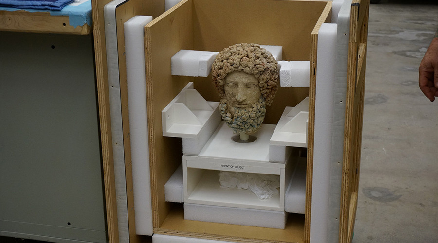 US returns looted head of Hades to Italy