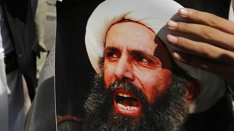 A poster of Sheikh Nimr al-Nimr. © Khaled Abdullah Ali Al Mahdi