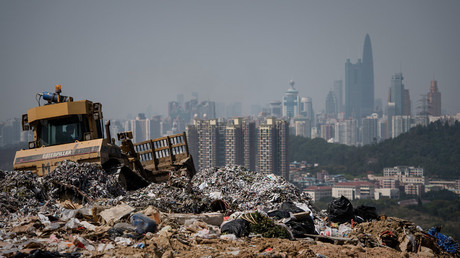 Hong Kong police search landfill for missing newborn dumped in binbag