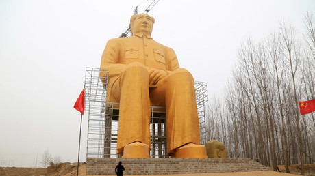 Apocalypse Mao: Giant gold statue of Communist leader demolished
