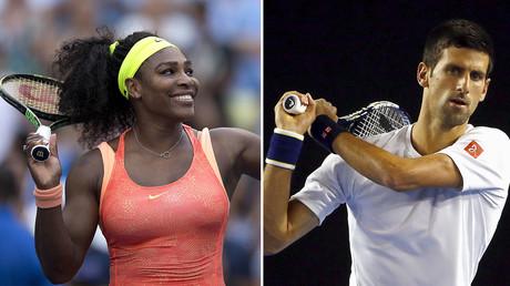 Serena Williams (L), Novak Djokovic. © Reuters