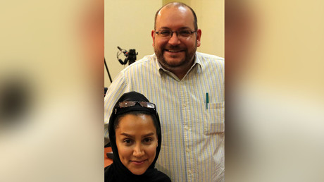 This file photo taken on September 10, 2013 shows Iranian-American Washington Post correspondent Jason Rezaian and his Iranian wife Yeganeh Salehi. © Str.