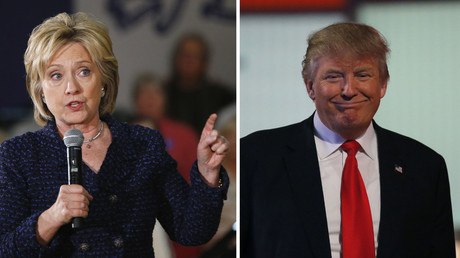 Democratic presidential candidate Hillary Clinton (L), Republican U.S. presidential candidate Donald Trump. © Reuters