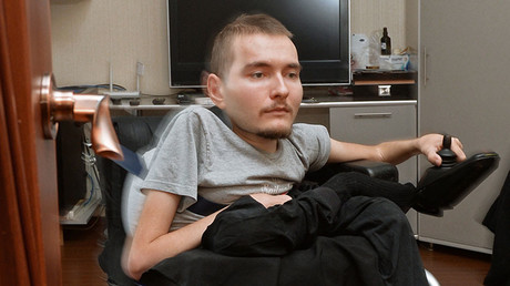 Russian Valery Spiridonov who agreed to the world's first operation on human head transplant is in his apartment in Vladimir. © Kirill Kallinikov