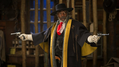 Samuel L. Jackson as Major Marquis Warren a.k.a. 'The Bounty Hunter' in The Hateful Eight (2015), written and directed by Quentin Tarantino. © kinopoisk.ru