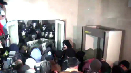 Protesters in Moldovan capital storm parliament building