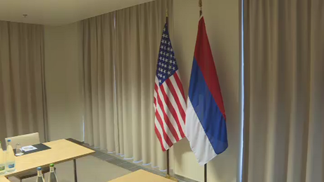 'No bulls**tting? White should be on top?' US hangs Russian flag upside down at Lavrov-Kerry talks