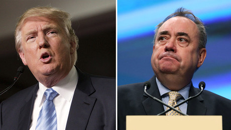 'Donald Trump is too chicken to debate,' says Alex Salmond