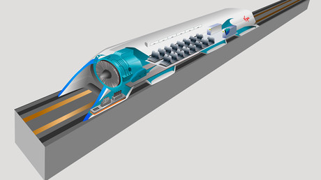 Concept art of Hyperloop inner workings © wikipedia.org