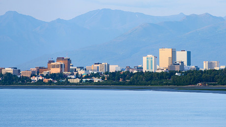 Downtown Anchorage sits on a coastal plane between Cook Inlet and the Chugach Mountains, in Alaska © Mark Meyer