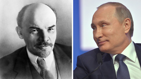 Vladimir Lenin (L), Vladimir Putin (R) © Sputnik
