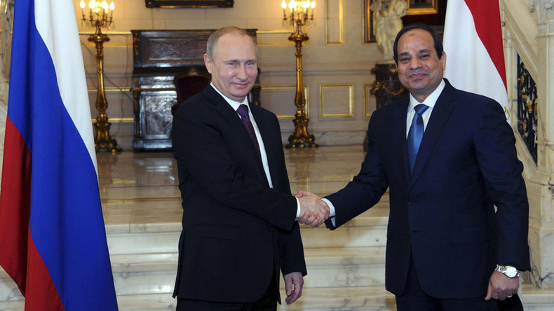 Egypt seeks free trade zone with Russia