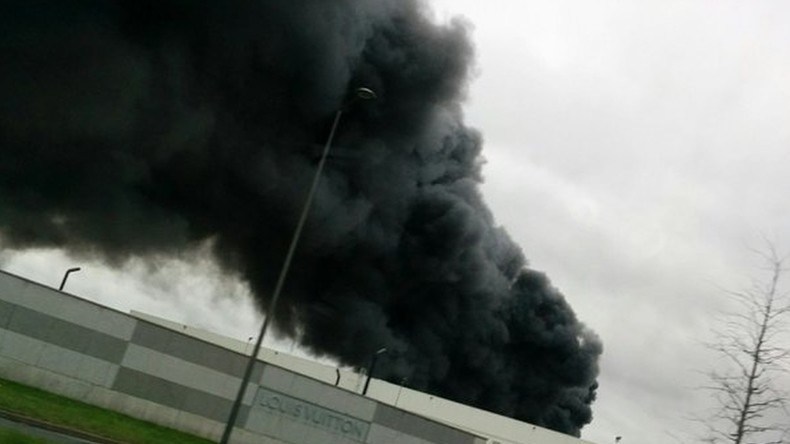 Massive fire engulfs French industrial area near Louis Vuitton warehouse