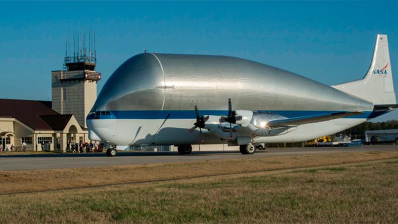 NASA's gigantic 'Super Guppy' cargo plane ships spacecraft destined for Mars
