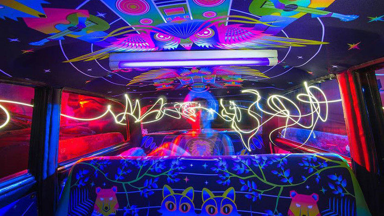 Pimp my ride: Mumbai taxis transformed through fabric art interiors
