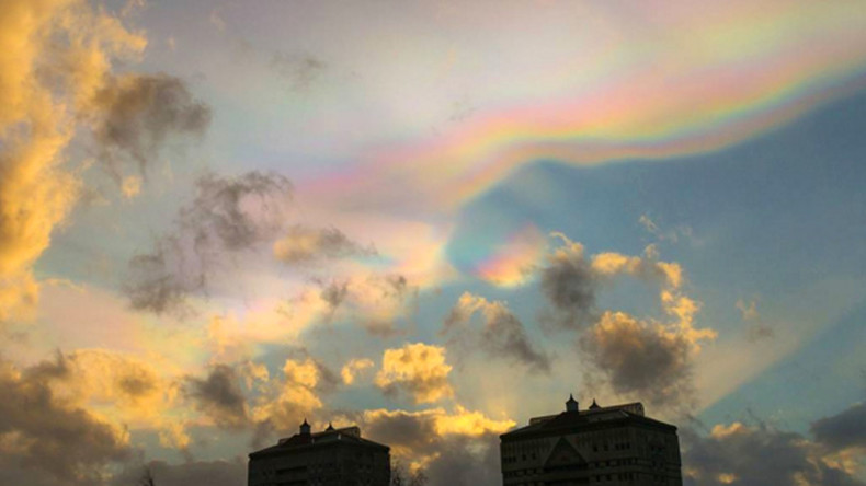 Strange and beautiful 'mother of pearl' nacreous clouds spotted over Britain (PHOTOS)