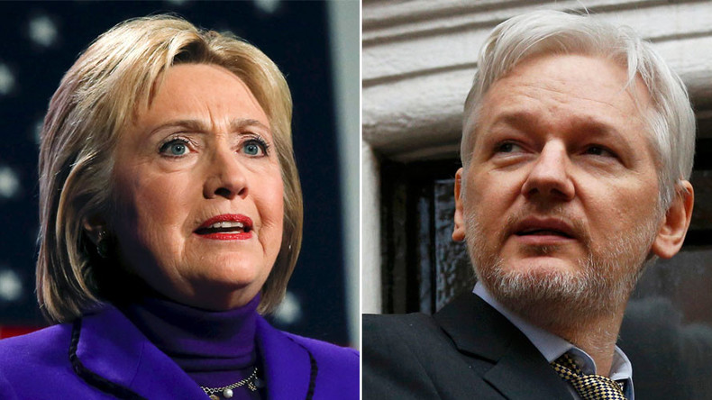 Assange: Vote for Hillary Clinton is 'vote for endless, stupid war' which spreads terrorism