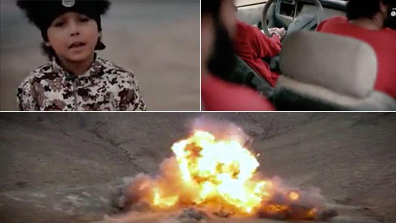 ISIS execution video shows 4yo 'Jihadi Junior' blowing up 'British spies'