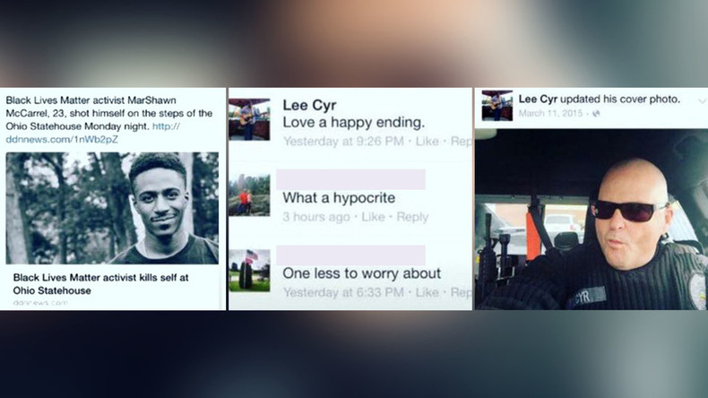 'Happy ending?' Ohio cop put on leave for gloating over suicide of Black Lives Matter activist
