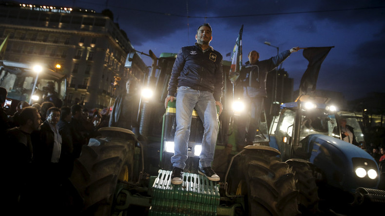 'Greeks will have to become migrants': 10,000 farmers protest EU-imposed reforms in Athens