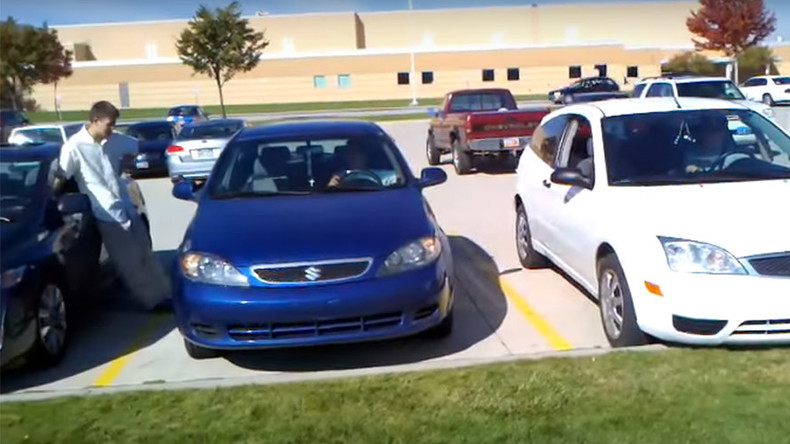 Perfect car-mony: Watch students sync horns to play a song