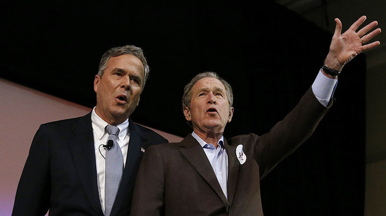 Bush is back: George W hits the campaign trail to help brother Jeb