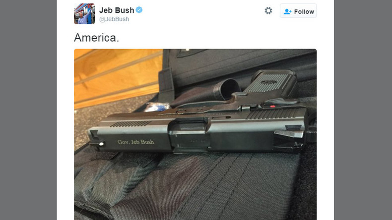 'Delete your account': Jeb Bush gun tweet backfires as Snowden, others take aim