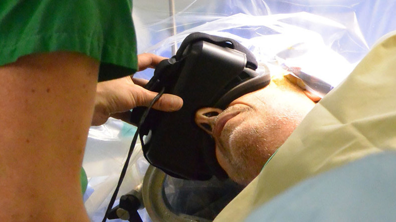 World first: French patient wears 3D virtual reality glasses to guide surgeons during operation
