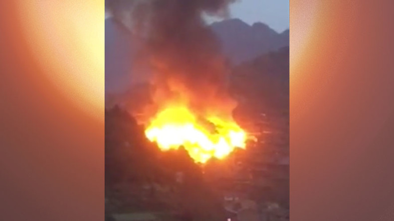 Massive, devastating fire breaks out in Guizhou, southeast China (PHOTOS, VIDEO)