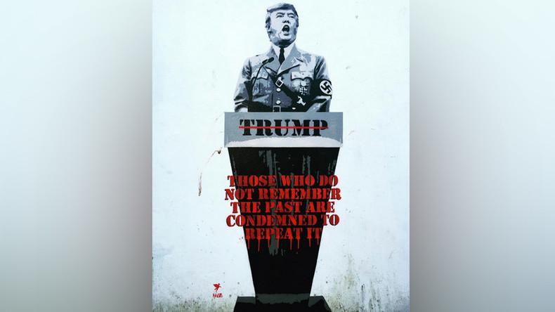 Heil Trump: British street artist turns 'The Donald' into Hitler
