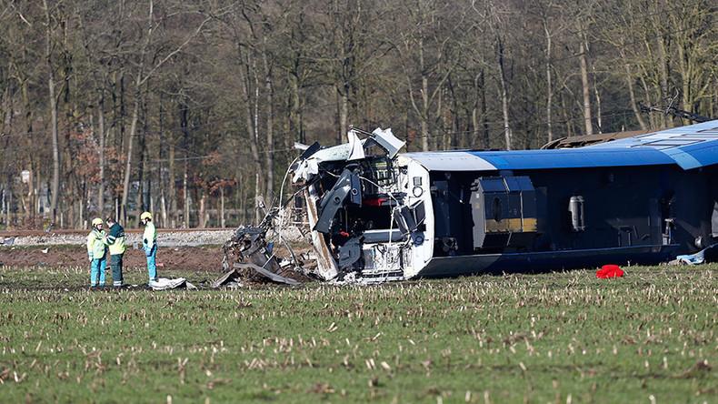 1 dead, 10 injured as passenger train hits crane, derails in Netherlands (PHOTOS, VIDEOS)