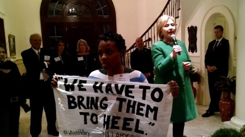'I'm no superpredator': #BlackLivesMatter activist confronts Hillary for 1996 claim (VIDEO)