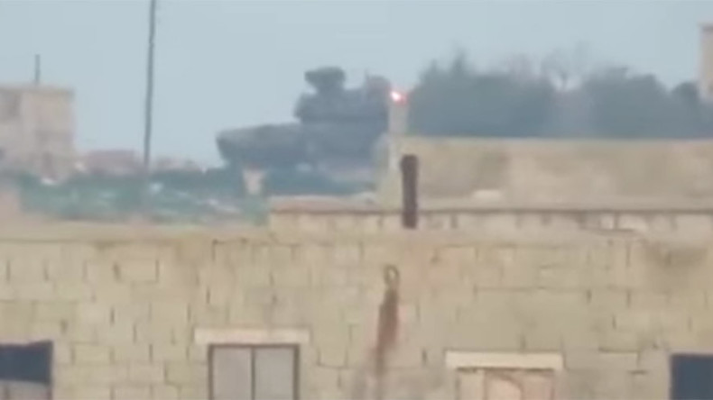 TOW missile v T-90: Syrian rebel video shows dramatic hit