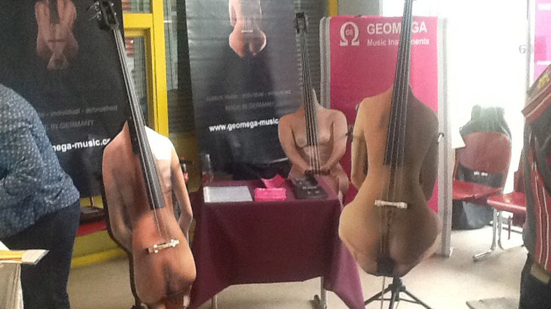 Bum note? German makes instruments with naked lady designs (PHOTOS, VIDEO)