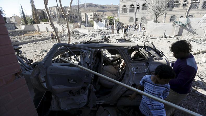 Dozens feared killed as coalition forces strike market in Yemeni capital (VIDEO)