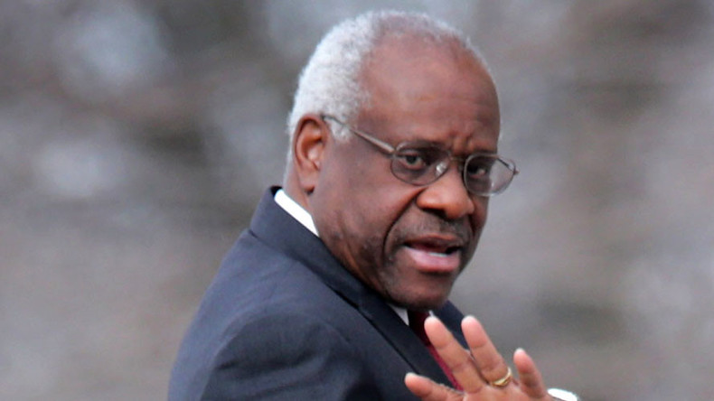 Silent no more: Justice Thomas asks question, breaks 10-year SCOTUS streak